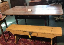 Bench w/ Drawer...1850 Farm Table