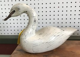 White Duck Decoy Signed